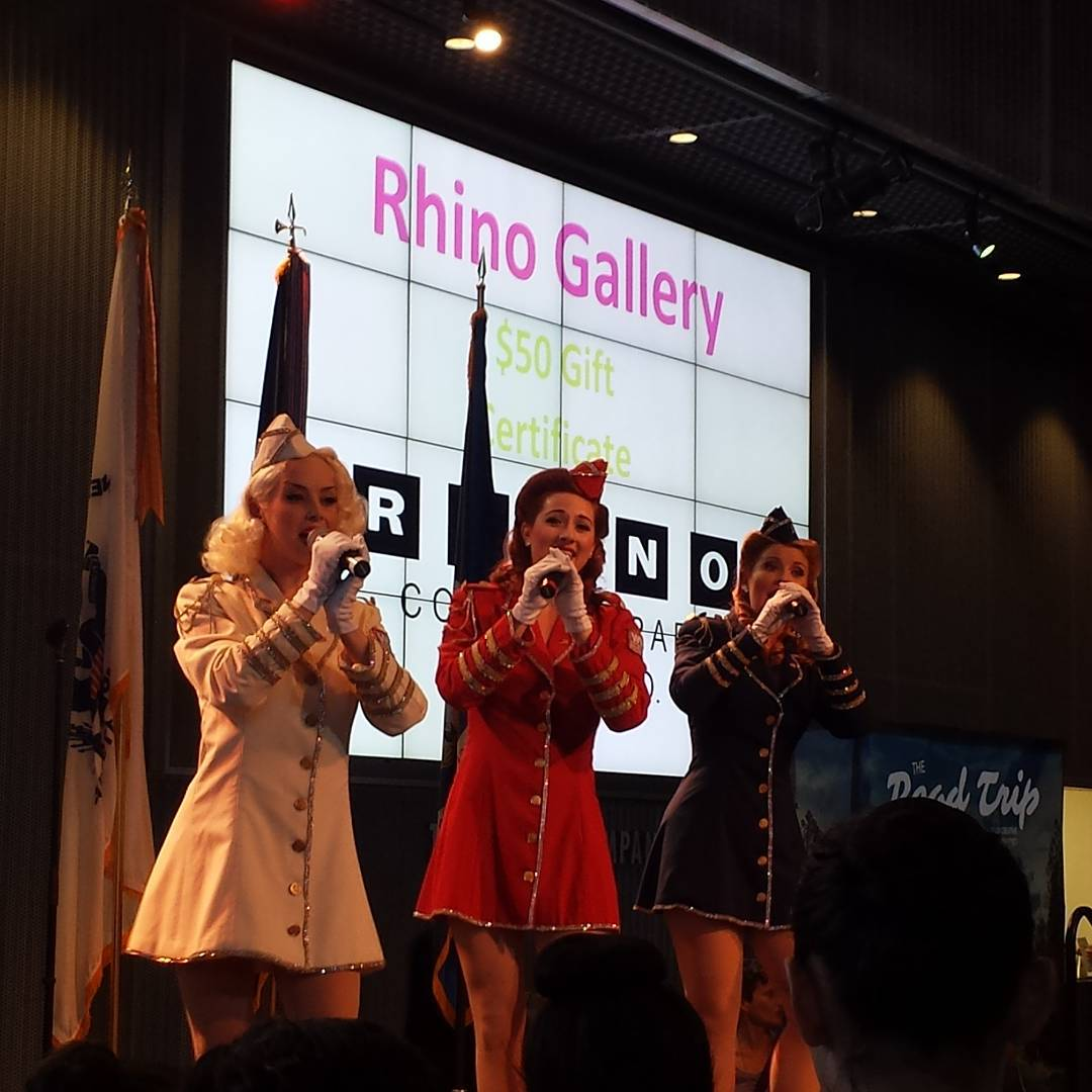 Victory Belles entertaining the crowd at CultureCollision7